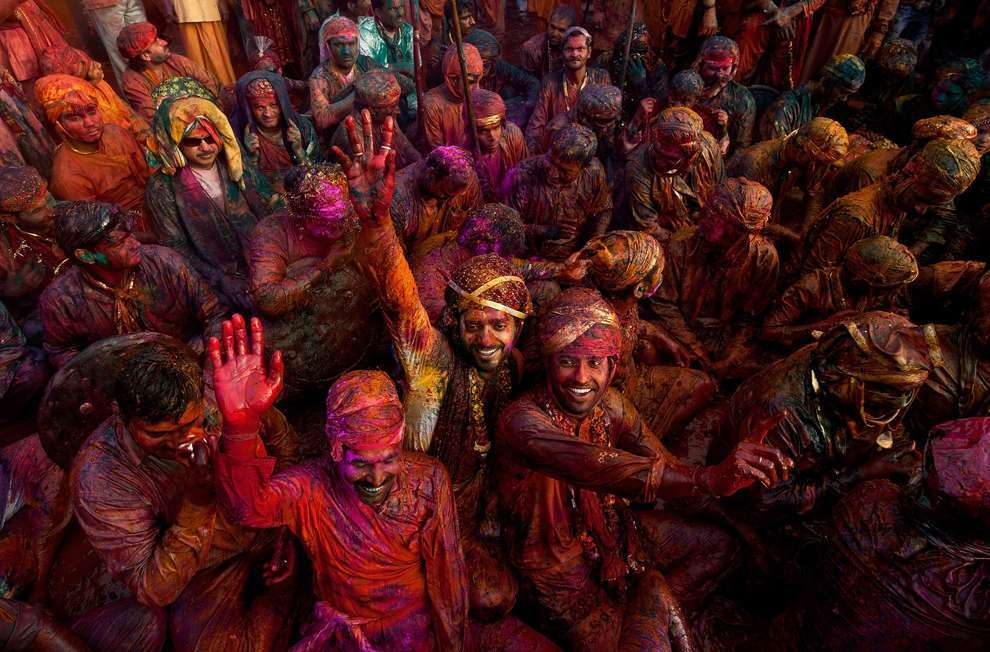 Holi Celebrations in India - Photographs of Lathmar Holi14