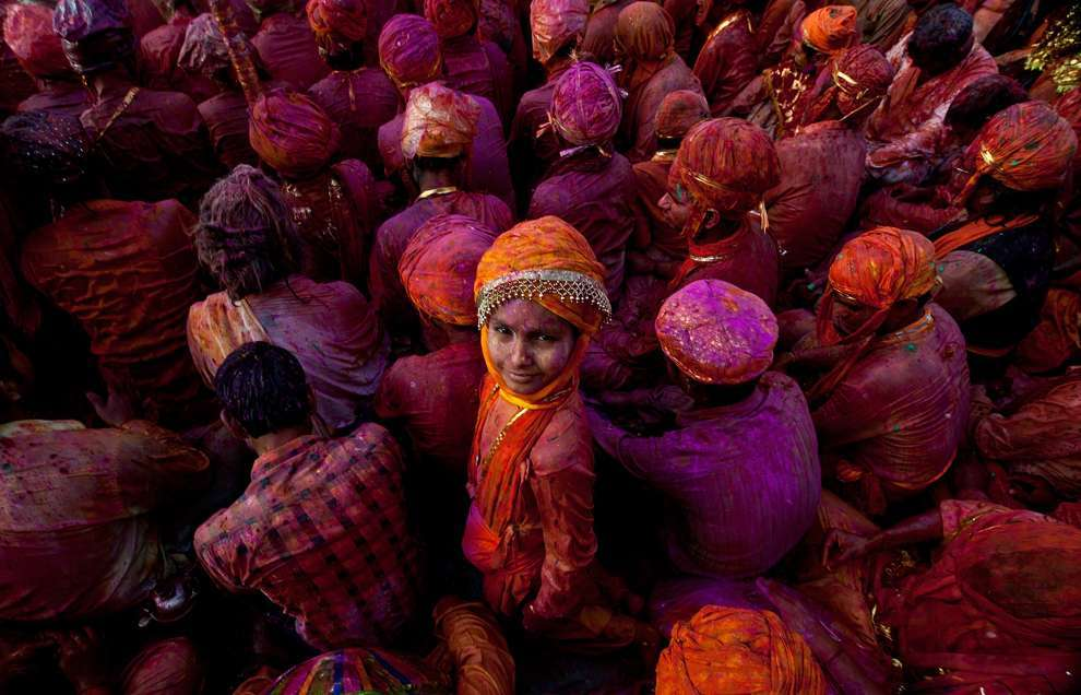 Holi Celebrations in India - Photographs of Lathmar Holi9