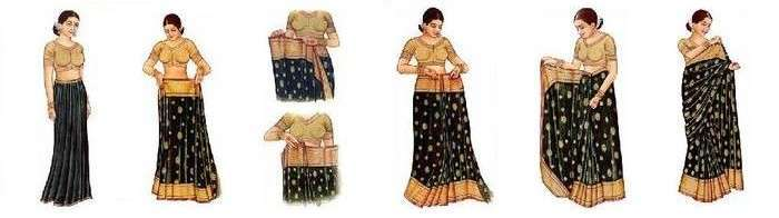 How To Drape A Saree To Look Slim1