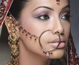 Indian Nose Rings - Adorning Nose with beautiful Jewels and Rings4