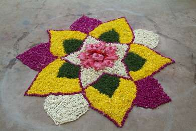 Rangoli Flower Designs and Patterns1
